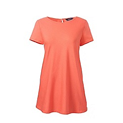 Lands' End - Orange short sleeves cotton modal tunic