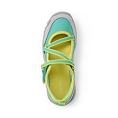 Lands' End - Girls' blue mary jane trekker shoes