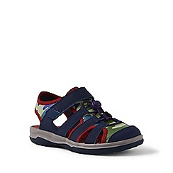 Lands' End - Blue closed-toe action sandals