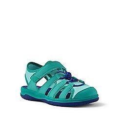 Lands' End - Blue closed-toe action sandals