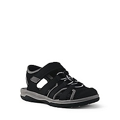 Lands' End - Black closed-toe action sandals