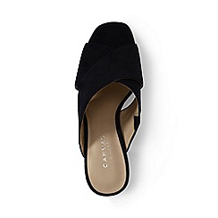 Buy Cheap Original Womens Regular Crossover Suede Mule Sandals - 5.5 - BLACK Lands End Discount For Cheap Discount Nicekicks Free Shipping Low Price Fee Shipping R75uEbSC