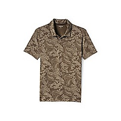 Lands' End - Brown patterned seaworn jersey polo