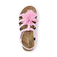 Lands' End - Girls' pink arabella flower sandals