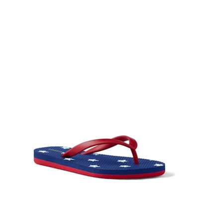 Lands' End - Blue flip flops