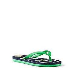 Lands' End - Blue flip flops