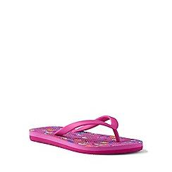 Lands' End - Pink flip flops