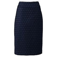 Lands' End - Blue regular jacquard pencil skirt
