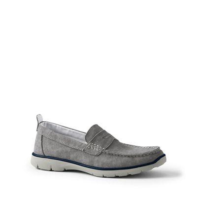 Lands' End - Grey regular lightweight comfort canvas loafers