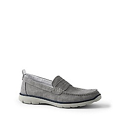 Lands' End - Grey regular lightweight comfort canvas loafers