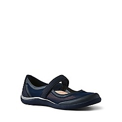e894b520300 Lands  End - Blue wide mary jane water shoes