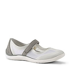 Lands' End - White Wide Mary Jane Water Shoes