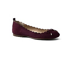 Lands' End - Purple regular scalloped ballet pumps