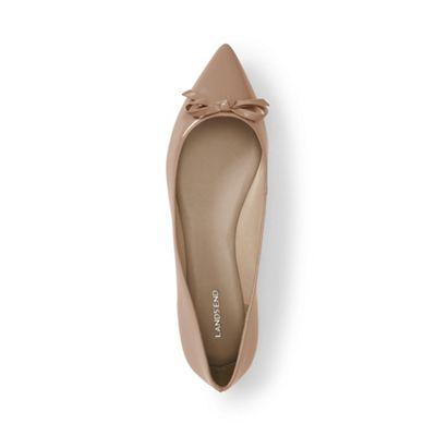 Lands' End End End - Brown regular pointed toe ballet pumps 6899d3