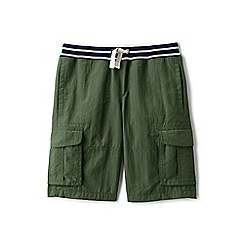 Lands' End - Boys' green adventure cargo shorts