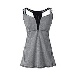 Lands' End - Grey le sport studio support vest top