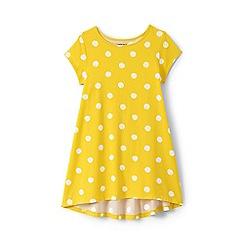 Lands' End - Girls' yellow dot print trapeze legging top