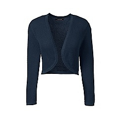 Lands' End - Blue petite supima pointelle bolero