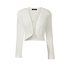 Lands' End - White petite supima pointelle bolero