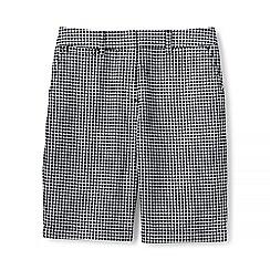 Lands' End - Black regular textured chino shorts