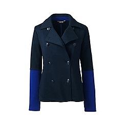Lands' End - Blue regular jacquard jersey pea coat