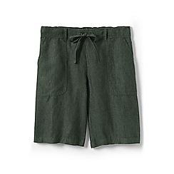 Lands' End - Green regular linen culottes