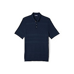 Lands' End - Blue fine gauge polo