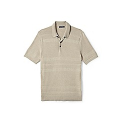 Lands' End - Beige fine gauge polo