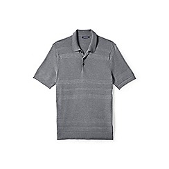 Lands' End - Grey fine gauge polo