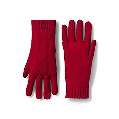 Lands' End - Red cashmere cable gloves