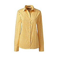 Lands' End - Yellow classic fit print non-iron shirt