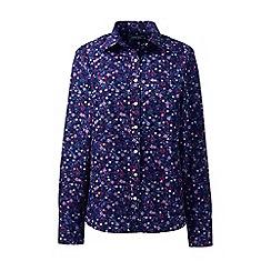 Lands' End - Purple classic fit print non-iron shirt
