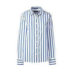 Lands' End - Blue classic fit print non-iron shirt