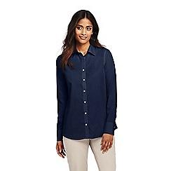 Lands' End - Blue petite classic fit non-iron supima shirt