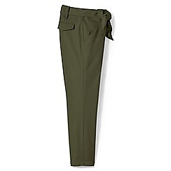 Lands' End - Green regular super-soft tie waist chino trousers