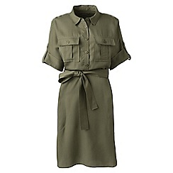 Lands' End - Green plus utility shirt dress