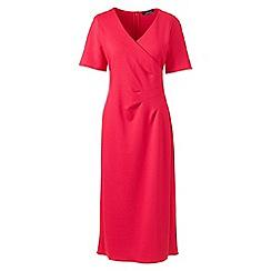 Lands' End - Pink lightweight ponte jersey dress