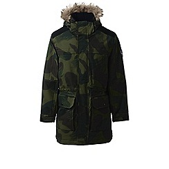 Lands' End - Green camo expedition parka jacket