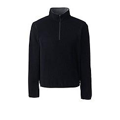 Lands' End - Black half-zip fleece top
