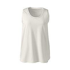 Lands' End - Cream cotton modal sleep vest