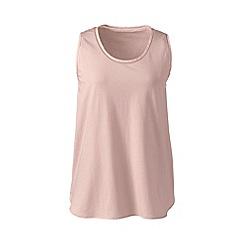 Lands' End - Pink cotton modal sleep vest