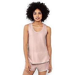 Lands' End - Cream womens petite cotton modal sleep vest