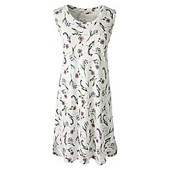 Lands' End - Pink plus sleeveless knee length patterned supima nightdress