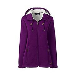 Lands' End - Purple hooded fleece-lined jacket