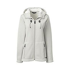 Lands' End - Grey hooded fleece-lined jacket