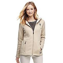 Lands' End - Beige hooded fleece-lined jacket