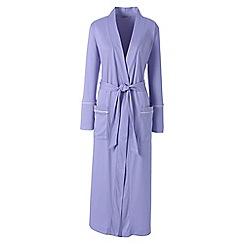 Lands' End - Purple plus bracelet sleeve supima dressing gown