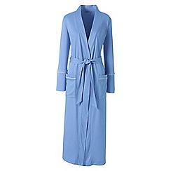Lands' End - Blue plus bracelet sleeve supima dressing gown