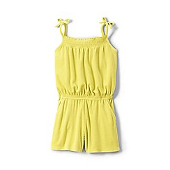 Lands' End - Girls' yellow strappy jersey playsuit