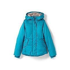 Lands' End - Girls' blue fleece lined jacket
